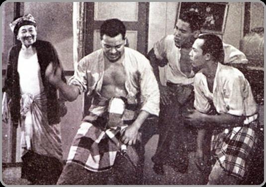 Adegan lakonan P. Ramlee dalam filem Pendekar Bujang Lapok