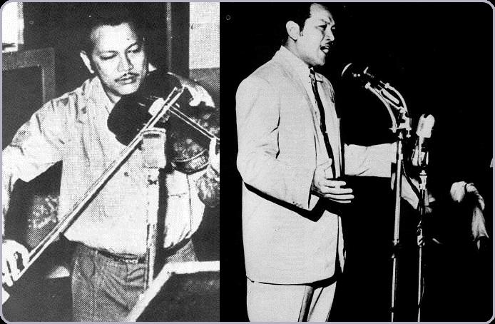 Bakat P. Ramlee dalam nyanyian dan bermain alat muzik yang luar biasa