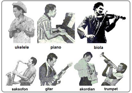 Antara alat muzik yang boleh dimainkan oleh P. Ramlee