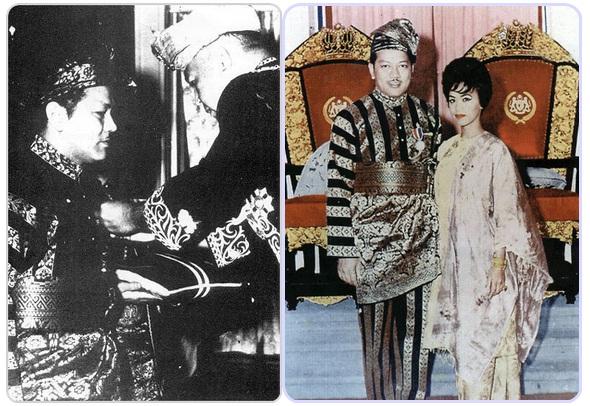 P. Ramlee ketika menerima bintang Ahli Mangku Negara (AMN) dari  DYMM Seri Paduka Baginda Yang di Pertuan Agong ke-3 pada 1962